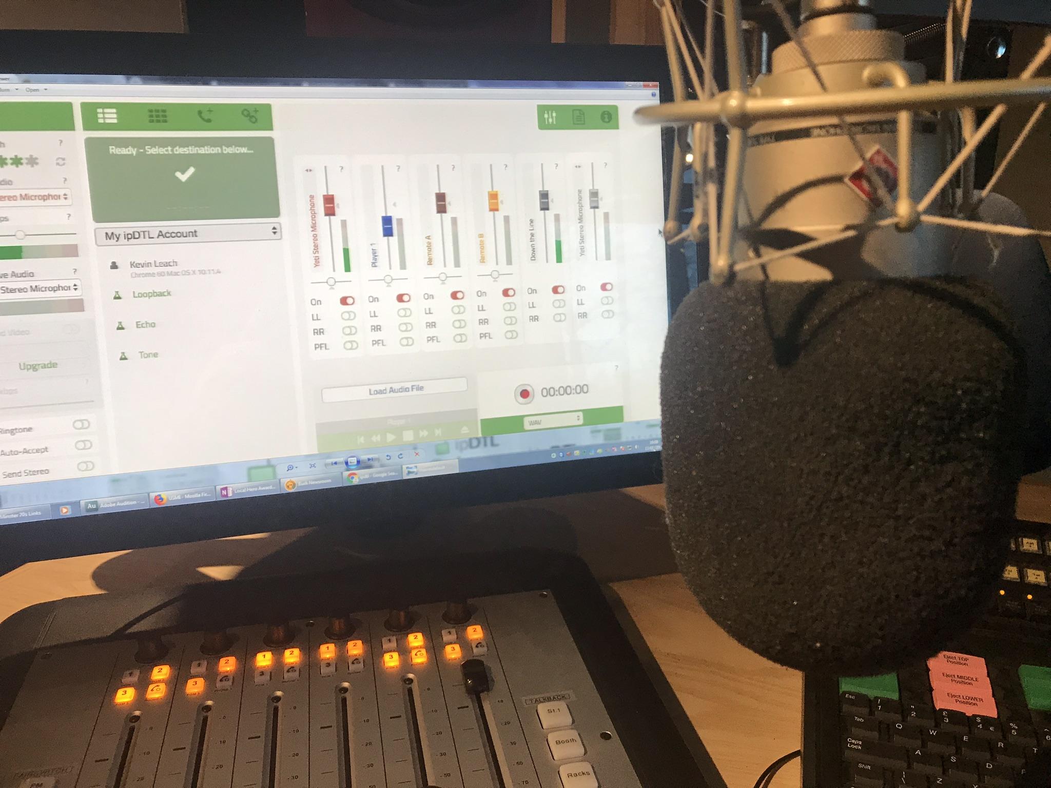 IPDTL in a radio studio environment